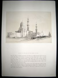 David Roberts Egypt 1849 Half Folio. Mosque of Ayed Bey, Suez. Lithograph